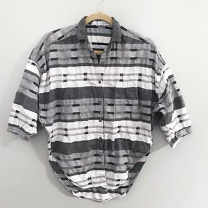 Vintage 80s slouchy Button Up